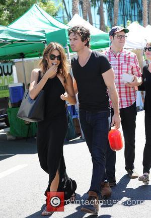 Nikki Reed and Ian Somerhalder - Nikki Reed and Ian Somerhalder at the Farmers Market - Los Angeles, California, United...