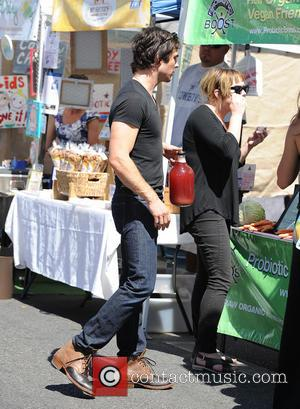 Ian Somerhalder - Nikki Reed and Ian Somerhalder at the Farmers Market - Los Angeles, California, United States - Sunday...