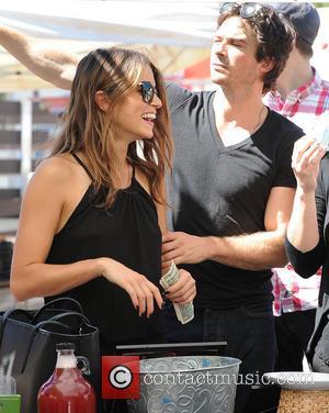 Nikki Reed and Ian Somerhalder - Nikki Reed and Ian Somerhalder shop at Pomegranate Kombucha - Los Angeles, California, United...
