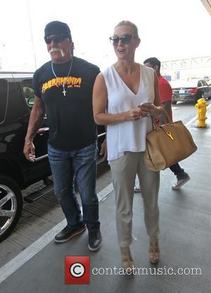 Hulk Hogan and Jennifer McDaniel - Hulk Hogan and Jennifer McDaniel at Los Angeles International Airport (LAX) - Los Angeles,...