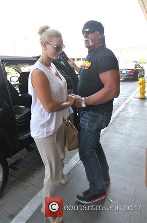 Hulk Hogan and Jennifer McDaniel - Hulk Hogan and Jennifer McDaniel at Los Angeles International Airport (LAX) - Los Angeles,...
