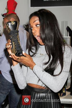 Dawn Richard - Singer Dawn Richard promotes her shoe collection at 2014 MAGIC Convention held at the Las Vegas Convention...