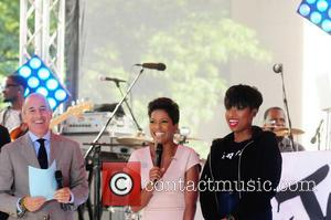 Tamron Hall, Matt Lauer and Jennifer Hudson