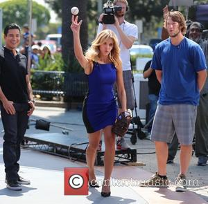 Clayton Kershaw, Mario Lopez and Charissa Thompson