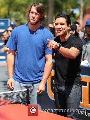 Clayton Kershaw and Mario Lopez