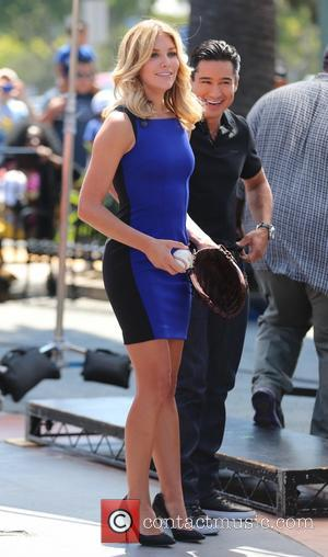 Mario Lopez and Charissa Thompson - Clayton Kershaw interviews on 'Extra' - Los Angeles, California, United States - Wednesday 20th...