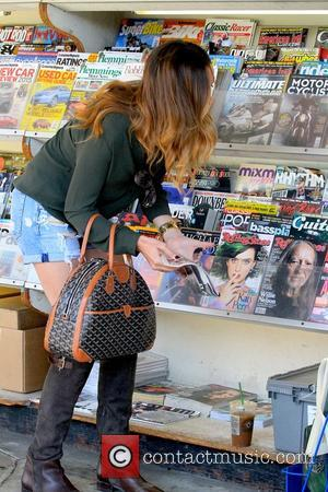Courtney Bingham Sixx - Courtney Bingham Sixx buying Rock & Roll magazine at News Stand on Beverly Drive - Los...