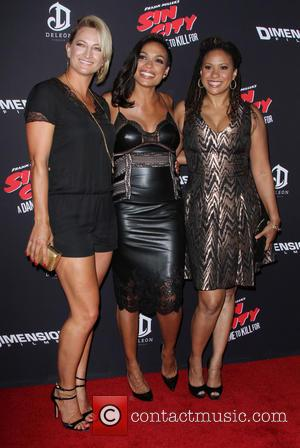 Zoe Bell, Rosario Dawson and Tracie Thoms -Various celebrities turned out for the premiere of 'Sin City: A Dame To...