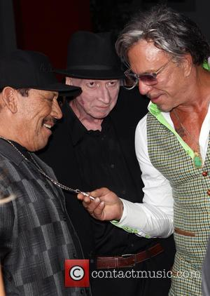 Danny Trejo, Frank Miller and Mickey Rourke - Various celebrities turned out for the premiere of 'Sin City: A Dame...