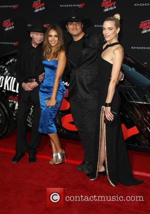 Frank Miller, Jessica Alba, Robert Rodriguez and Jaime King - Various celebrities turned out for the premiere of 'Sin City:...