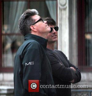 Tom Cruise and Christopher McQuarrie - Tom Cruise on the set of Mission: Impossible 5 at the Vienna State Opera...