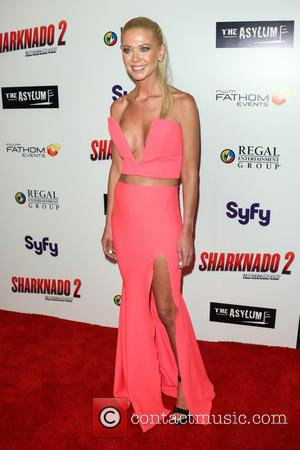 Tara Reid - 'Sharknado 2: The Second One' Los Angeles premiere at L.A. Live Theatre - Arrivals - Los Angeles,...