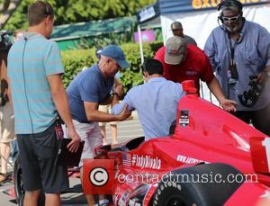 Mario Lopez - Marco Andretti appears on Extra and let's Mario Lopez sit in his Indy race car. - Los...