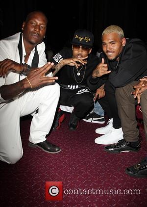 Tyrese Gibson, August Alsina and Chris Brown - 2014 BMI R&B/Hip-Hop Awards - Inside - Hollywood, California, United States -...
