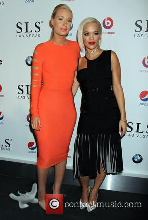 Iggy Azalea and Rita Ora - SLS Las Vegas Grand Opening Celebration - Arrivals - Las Vegas, Nevada, United States...