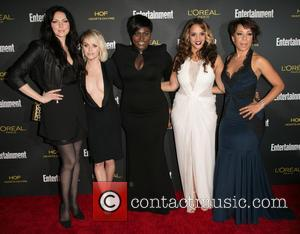 Laura Prepon, Taryn Manning, Danielle Brooks, Dascha Polanco and Selenis Leyva - 2014 Entertainment Weekly pre-Emmy party at Fig &...