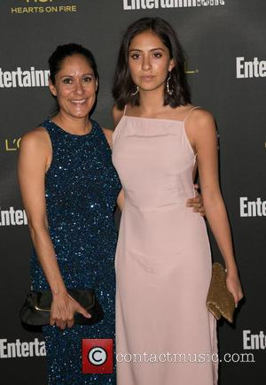 Sakina Jaffrey and guest - 2014 Entertainment Weekly pre-Emmy party at Fig & Olive - Arrivals - Los Angeles, California,...