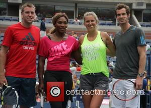 Serena Williams, Victoria Azerenka and Andy Murray - 2014 Arthur Ashe Kids' Day - Arrivals - New York, United States...