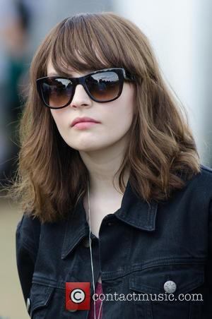 Lauren Mayberry - Lauren Mayberry from Chvrches backstage at Leeds Festival - Leeds, United Kingdom - Sunday 24th August 2014