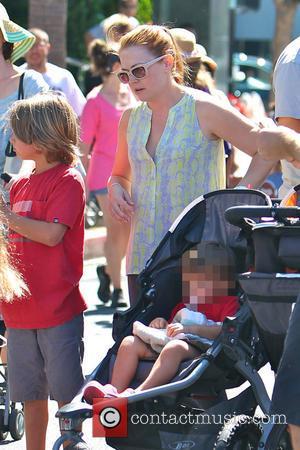 Melissa Joan Hart, Mason Wilkerson and Tucker Wilkerson - Melissa Joan Hart takes her sons to the Studio City Farmers...