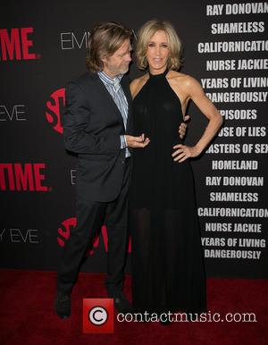 William H. Macy and Felicity Huffman - Showtime's 2014 Emmy Eve Soiree at Sunset Tower Hotel - Arrivals - Los...