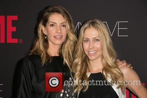 Dawn Olivieri and Guest - Showtime's 2014 Emmy Eve Soiree held at the Sunset Tower Hotel - Arrivals - Los...