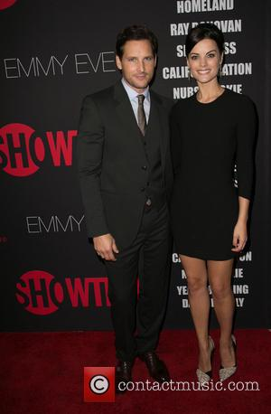 Peter Facinelli and Jaimie Alexander - Showtime's 2014 Emmy Eve Soiree held at the Sunset Tower Hotel - Arrivals -...