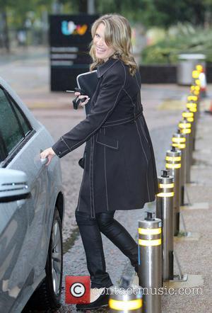 Charlotte Hawkins - Charlotte Hawkins outside ITV Studios - London, United Kingdom - Monday 25th August 2014