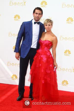 Kaley Cuoco-Sweeting , Ryan Sweeting - 66th Primetime Emmy Awards at Nokia Theatre L.A. Live - Arrivals at Nokia Theatre...