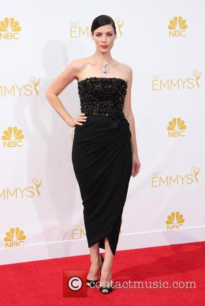 Jessica Pare - The 66th Primetime Emmy Awards at the Nokia Theatre  - Arrivals at Primetime Emmy Awards, Emmy...