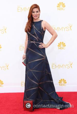 Debra Messing - 66th Primetime Emmy Awards - Arrivals - Los Angeles, California, United States - Monday 25th August 2014