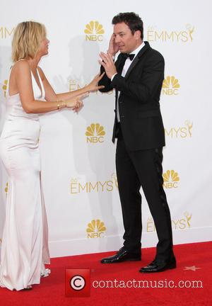 Kristen Wii and Jimmy Fallon