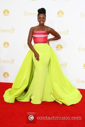 Teyonah Parris - 66th Primetime Emmy Awards at Nokia Theatre L.A. Live - Arrivals - Los Angeles, California, United States...