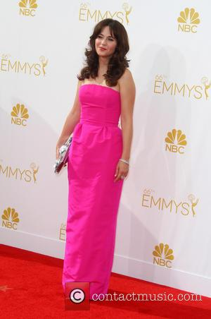 Zooey Deschanel - 66th Primetime Emmy Awards at Nokia Theatre L.A. Live - Arrivals - Los Angeles, California, United States...
