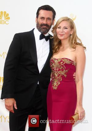 Jon Hamm and Jennifer Westfeldt - 66th Primetime Emmy Awards at Nokia Theatre L.A. Live - Arrivals - Los Angeles,...
