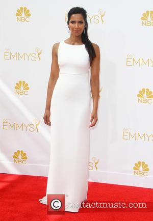Padma Lakshmi - 66th Primetime Emmy Awards at Nokia Theatre L.A. Live - Arrivals - Los Angeles, California, United States...