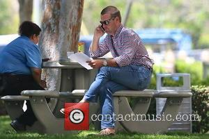 Chris O'Donnell - 'Grey's Anatomy' and 'Batman and Robin' star, Chris O'Donnell, was photographed on a Los Angeles park bench...