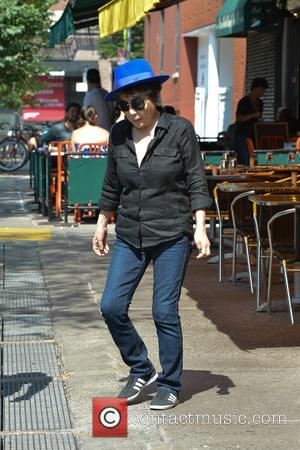 Yoko Ono - Yoko Ono who was married to former member of the Beatles John Lennon goes out for lunch...