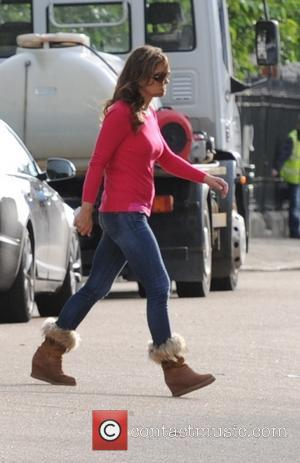 Elizabeth Hurley - Elizabeth Hurley seen filming in south London for E drama The Royals. - London, United Kingdom -...