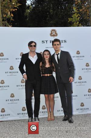 Paul Wesley and Fatima Ptacek - Other guests included acclaimed Italian actor Adriano Giannini. The dinner took place in the...