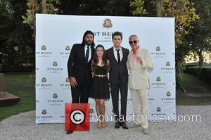 Paul Wesley, Fatima Ptacek and Lucan Toh - Other guests included acclaimed Italian actor Adriano Giannini. The dinner took place...