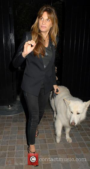 Jemima Khan and Brian the dog - Celebrities at Chiltern Firehouse - London, United Kingdom - Friday 29th August 2014