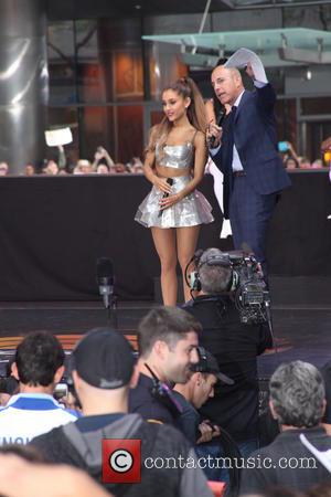 Ariana Grande and Matt Lauer - Ariana Grande performs live on NBC's 'Today' show - NYC, New York, United States...