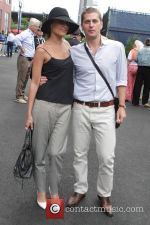 Rob Thomas and Marisol Malonado - Stars are spotted arriving in New York for day 6 of the 2014 US...