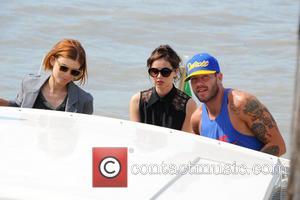 Felicity Jones, Kate Mara and Johnny Wujek