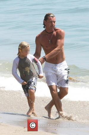 Gavin Rossdale and Zuma Rossdale - English musician and actor Gavin Rossdale spends time with his two sons Kingston and...