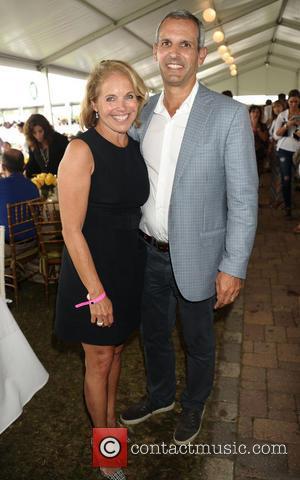 Katie Couric and husband John Molner - 39th Annual Hampton Classic Horseshow Grand Prix - Bridgehampton, New York, United States...