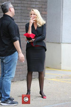 American model, actress and former partner of Rolling Stones frontman Sir Mick Jagger, Jerry Hall outside ITV Studios today -...