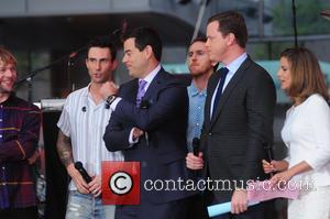 Adam Levine, Maroon 5, Carson Daly, Natalie Morales and Willie Geist