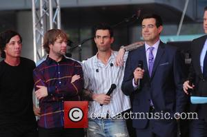Adam Levine, Maroon 5, Carson Daly and Willie Geist - Maroon 5 performs on Today Show concert series - NY,...